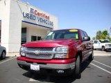 2006 Sport Red Metallic Chevrolet Silverado 1500 LT Crew Cab #15719549