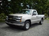 2006 Silver Birch Metallic Chevrolet Silverado 1500 Work Truck Regular Cab 4x4 #15713229
