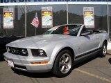 2006 Satin Silver Metallic Ford Mustang V6 Premium Convertible #15714733