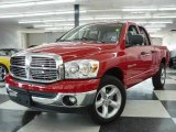 2007 Flame Red Dodge Ram 1500 ST Quad Cab #1532218