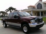 2004 Dark Toreador Red Metallic Ford F250 Super Duty XLT Crew Cab 4x4 #15810829