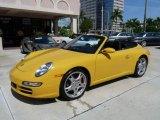 2008 Speed Yellow Porsche 911 Carrera S Cabriolet #15803687