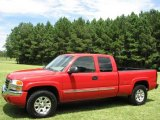 2005 Fire Red GMC Sierra 1500 SLE Extended Cab 4x4 #15915232