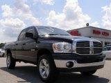 2008 Brilliant Black Crystal Pearl Dodge Ram 1500 Big Horn Edition Quad Cab 4x4 #15913481