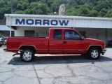 2001 Victory Red Chevrolet Silverado 1500 LS Extended Cab 4x4 #15964541