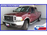 2004 Dark Toreador Red Metallic Ford F250 Super Duty XLT Crew Cab 4x4 #15975673