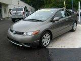 2007 Galaxy Gray Metallic Honda Civic LX Coupe #15972006