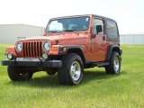 2002 Jeep Wrangler Amber Fire Pearl