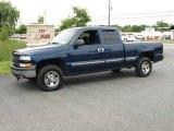 2002 Indigo Blue Metallic Chevrolet Silverado 1500 LS Extended Cab 4x4 #16029822