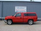 2005 Victory Red Chevrolet Silverado 1500 Regular Cab #16032906