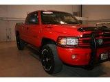 2001 Flame Red Dodge Ram 1500 SLT Club Cab 4x4 #16020511