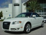 2008 Ibis White Audi A4 2.0T Cabriolet #1607233