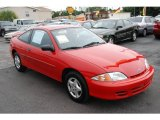 2002 Bright Red Chevrolet Cavalier Coupe #16155515