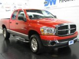 2006 Flame Red Dodge Ram 1500 SLT Quad Cab 4x4 #16110848