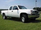 2004 Summit White Chevrolet Silverado 1500 Z71 Extended Cab 4x4 #16132219