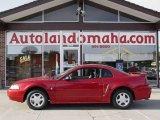 2001 Laser Red Metallic Ford Mustang V6 Coupe #16224609
