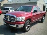 2007 Inferno Red Crystal Pearl Dodge Ram 1500 SLT Quad Cab 4x4 #16216052