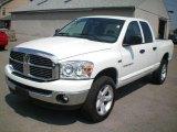2007 Bright White Dodge Ram 1500 SLT Quad Cab 4x4 #16216057