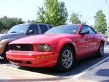 2005 Torch Red Ford Mustang V6 Premium Convertible #16326572