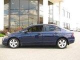 2007 Royal Blue Pearl Honda Civic EX Sedan #16334266