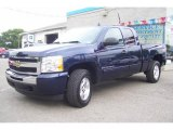 2009 Imperial Blue Metallic Chevrolet Silverado 1500 LT Extended Cab 4x4 #16377122