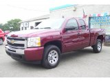 2009 Deep Ruby Red Metallic Chevrolet Silverado 1500 LS Extended Cab 4x4 #16377121