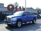2007 Electric Blue Pearl Dodge Ram 1500 SLT Quad Cab 4x4 #16381251