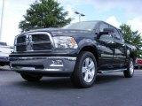 2009 Brilliant Black Crystal Pearl Dodge Ram 1500 Big Horn Edition Crew Cab #16383310