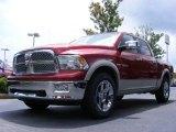 2009 Inferno Red Crystal Pearl Dodge Ram 1500 Laramie Crew Cab #16326561