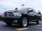 2009 Brilliant Black Crystal Pearl Dodge Ram 1500 Sport Crew Cab #16383325