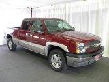 2005 Sport Red Metallic Chevrolet Silverado 1500 Z71 Extended Cab 4x4 #16471784