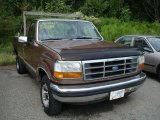 1992 Medium Light Mocha Metallic Ford F150 S Regular Cab 4x4 #16450864