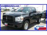 2008 Brilliant Black Crystal Pearl Dodge Ram 1500 ST Regular Cab #16456853