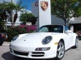 2008 Carrara White Porsche 911 Carrera 4 Cabriolet #1646213