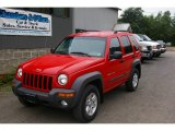 2002 Flame Red Jeep Liberty Sport 4x4 #16471765