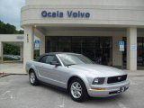 2007 Satin Silver Metallic Ford Mustang V6 Deluxe Convertible #16444996