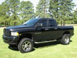 2004 Black Dodge Ram 1500 Laramie Quad Cab 4x4 #16452348