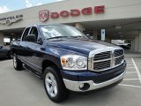 2007 Patriot Blue Pearl Dodge Ram 1500 SLT Quad Cab 4x4 #16477353