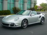 2008 Arctic Silver Metallic Porsche 911 Turbo Cabriolet #16537763