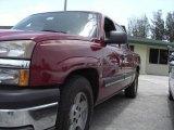 2005 Sport Red Metallic Chevrolet Silverado 1500 LS Crew Cab #16577800