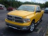 2009 Detonator Yellow Dodge Ram 1500 Big Horn Edition Quad Cab 4x4 #16578912