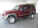 2002 Dark Garnet Red Pearlcoat Jeep Liberty Sport 4x4 #16577948