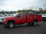 2009 Fire Red GMC Sierra 2500HD Work Truck Regular Cab Chassis Commercial Utility #16578646