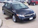 2007 Nighthawk Black Pearl Honda Civic EX Sedan #16580945