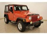 2006 Impact Orange Jeep Wrangler X 4x4 #16580098