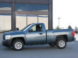 2007 Blue Granite Metallic Chevrolet Silverado 1500 Work Truck Regular Cab #16688045