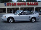 2000 Silver Metallic Ford Mustang V6 Convertible #16683529