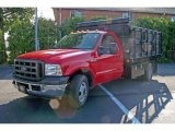 2005 Red Ford F350 Super Duty XL Regular Cab Chassis Stake Truck #16675862
