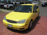 2005 Egg Yolk Yellow Ford Focus ZX3 S Coupe #16687838
