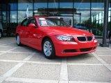 2006 Electric Red BMW 3 Series 325i Sedan #16680887